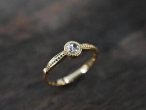 ローズカット ダイヤモンド リング K18