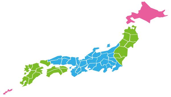 配送用の全国地図の画像