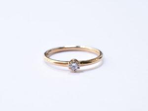 ダイヤモンドリング 0.1ct K18YG