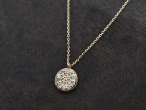 ラウンド型ダイヤモンドネックレス