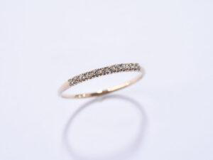 K18 slim ダイヤモンドリング