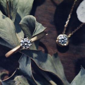 ワンダイヤモンドリング K18 0.2ct