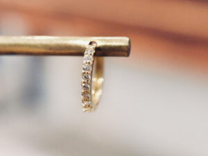 K18 フープピアス ダイヤモンド