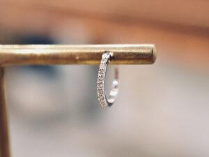フープピアス ダイヤモンド 0.05ct K18