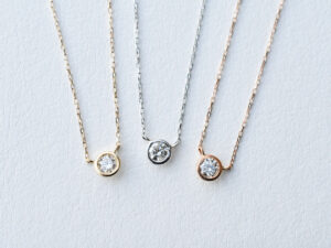 0.1ct ダイヤモンド ネックレス 一個石 K18 プラチナ