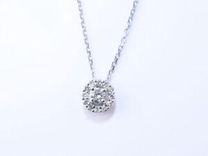 誕生石 4月 ダイヤモンド ネックレス K18