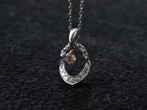 ピンクダイヤモンド ファンシーピンク PT ネックレス