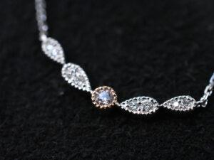 ピンクダイヤモンド ネックレス アーガイル ファンシーライトピンク