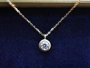 0.2ctダイヤモンドネックレス K18イエローゴールド