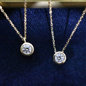 K18YG / Diamond Necklace Ⅱ 0.2ct / E / VS2 / EX