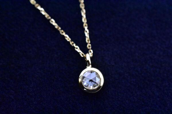 ローズカットダイヤモンドネックレス K18イエローゴールド